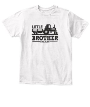 Little brother- Siblings Customized name tshirt