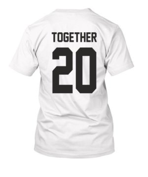 Together Since Customized Couple Tshirts -Mens White