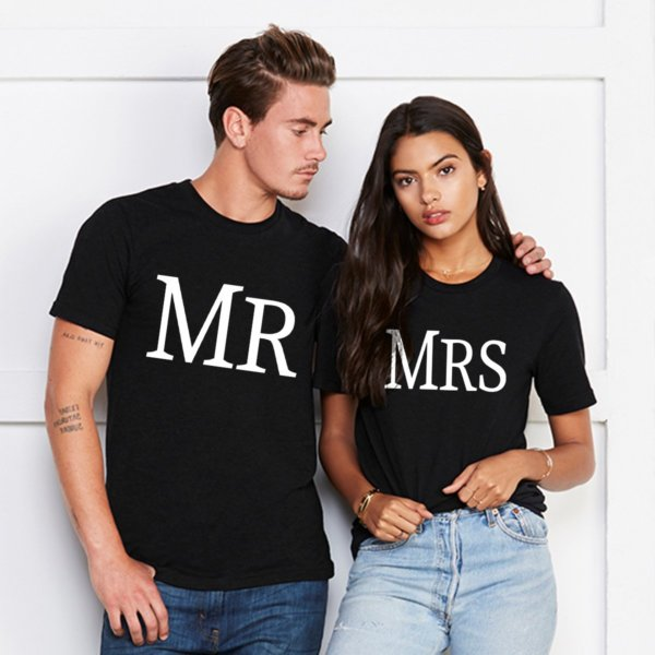 Mr and Mrs black couple tshirt