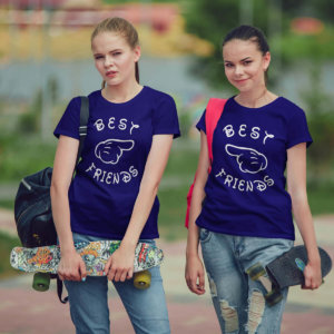 Best friend navy blue tshirts