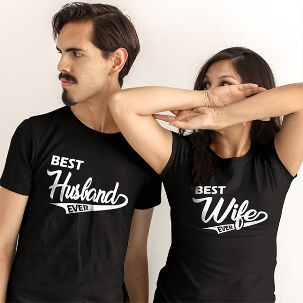 Best Husband and wife ever Couple T-shirts