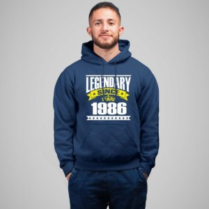 Customized Birth year Navy Blue Hoodie