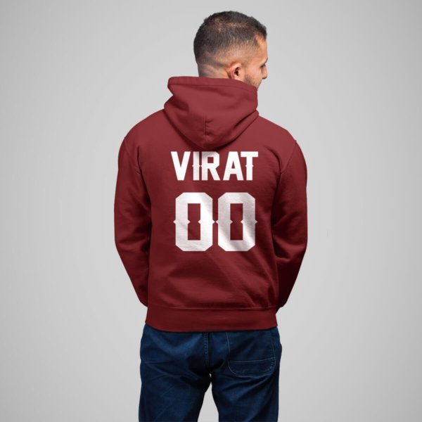 name and number customized hoodies