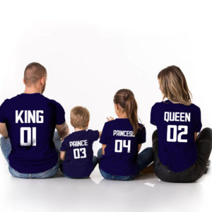 King,Queen,Prince & Princess Family tshirts