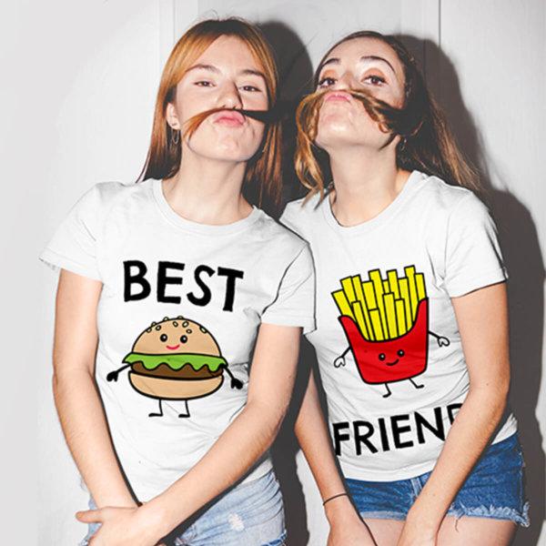 Funny best friends tshirt two girls