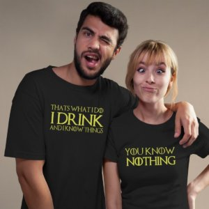 Game of thrones quote printed couple tshirt