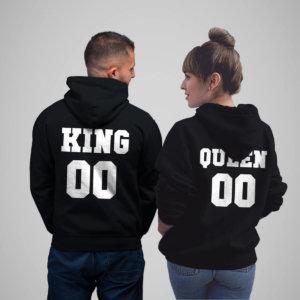 King Queen Hoodies