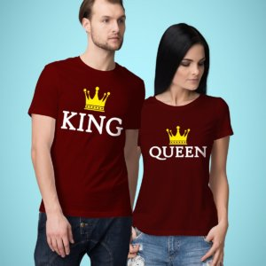 King and queen printed t-shirts for couples