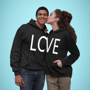 Love Couple Printed Hoodies
