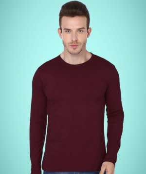 Full Sleeve Cotton Casual Round Neck T Shirts for Men