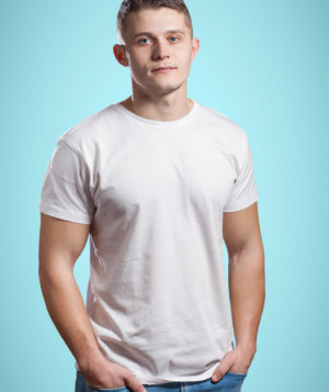 Half Sleeve Cotton Casual Round Neck T Shirts for Men