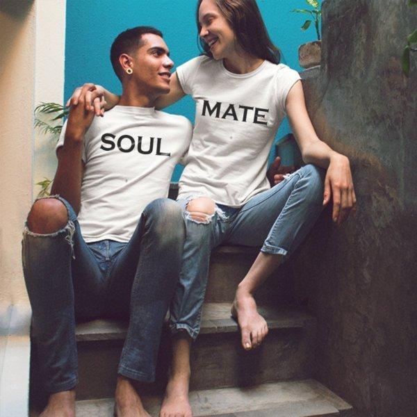 Soulmate couple white tshirts