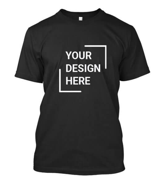 Customized T-shirts Black