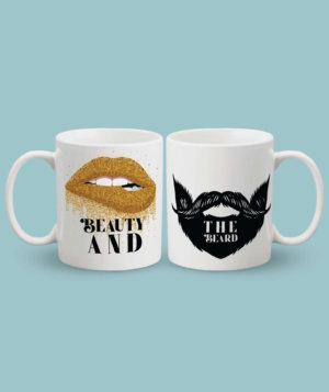 Beauty Beast Couple Mugs