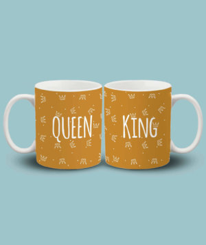 King and queen couple mug