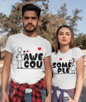 Awesome Couple Tshirt