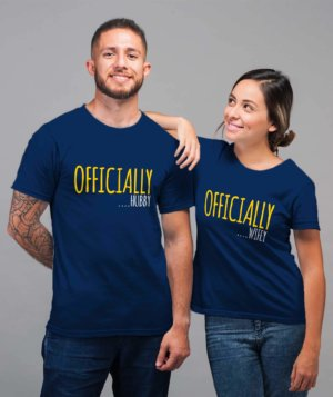 Husband wife tshirts for couple