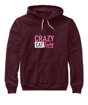 Crazy Cat lady, Women's Hoodies