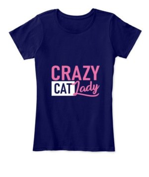 Crazy Cat lady, Women's Round Neck T-shirt