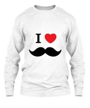 I love moustache, Men's Long Sleeves T-shirt