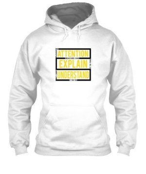 pay attention, Men's Hoodies