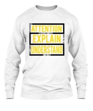 pay attention, Men's Long Sleeves T-shirt