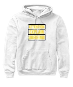 pay attention, Women's Hoodies
