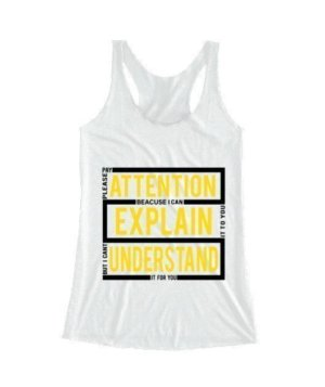 pay attention, Women's Tank Top