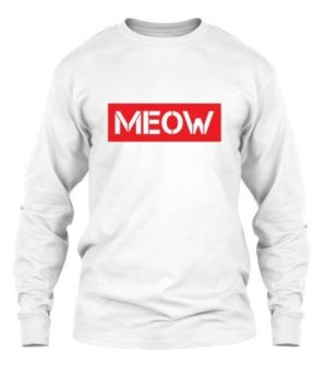 meow, Women's Round Neck T-shirt
