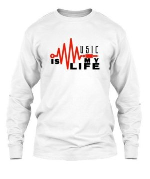 music is my life, Men's Long Sleeves T-shirt