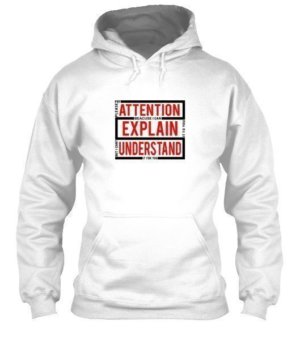 pleas pay attention , Men's Hoodies