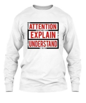 pleas pay attention , Men's Long Sleeves T-shirt