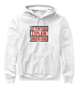 pleas pay attention , Women's Hoodies