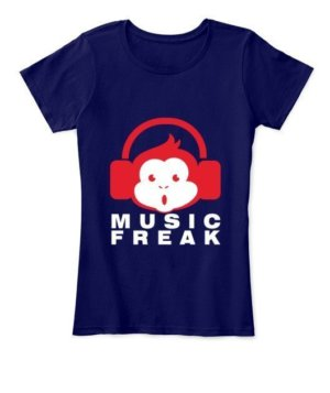 music freak, Women's Round Neck T-shirt