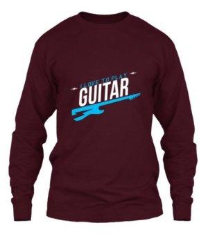 I LOVE TO PLAY GUITAR, Men's Long Sleeves T-shirt