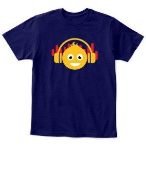 DJ smiley, Kid's Unisex Round Neck T-shirt