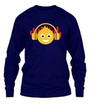 DJ smiley, Men's Long Sleeves T-shirt