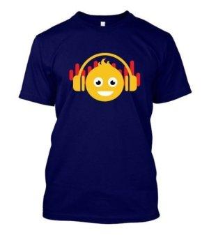 DJ smiley, Men's Round T-shirt