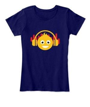 DJ smiley, Women's Round Neck T-shirt