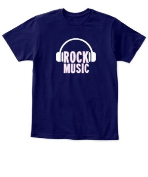 Rock music, Kid's Unisex Round Neck T-shirt