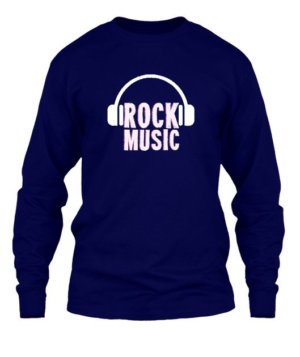 Rock music, Men's Long Sleeves T-shirt