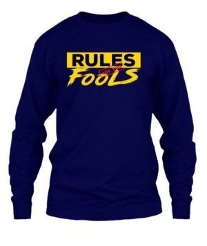 Rules are for fools, Kid's Unisex Round Neck T-shirt