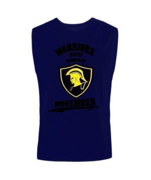 Warriors are born in November, Men's Long Sleeves T-shirt
