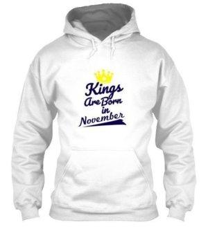 Kings are born in November, Men's Hoodies