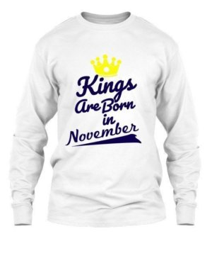 Kings are born in November, Men's Long Sleeves T-shirt