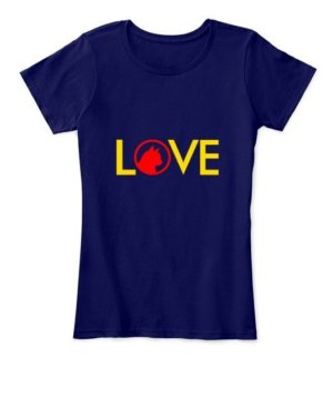 LOVE, Women's Round Neck T-shirt