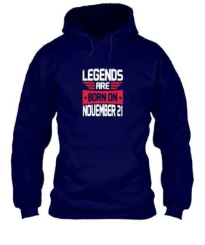 Legends are born on November [Your Date], Men's Hoodies