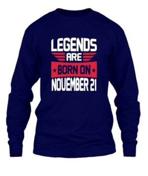 Legends are born on November [Your Date], Men's Long Sleeves T-shirt
