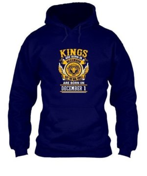 Real Kings are born on December [Your date], Men's Hoodies