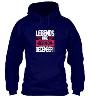 Legends are born on December [Your date], Men's Hoodies